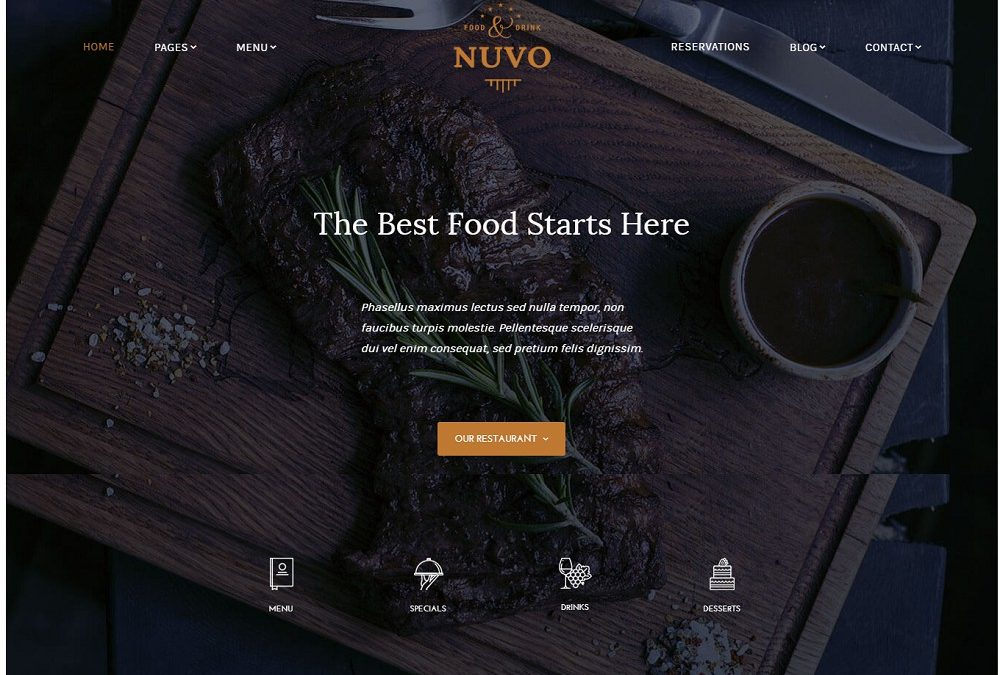 Best 25 catering wordpress themes 2020