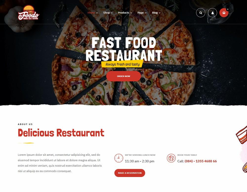 Foodo - fast food wordpress theme