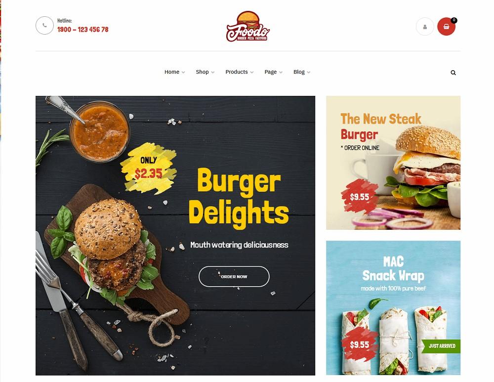 Foodo - burger wordpress theme
