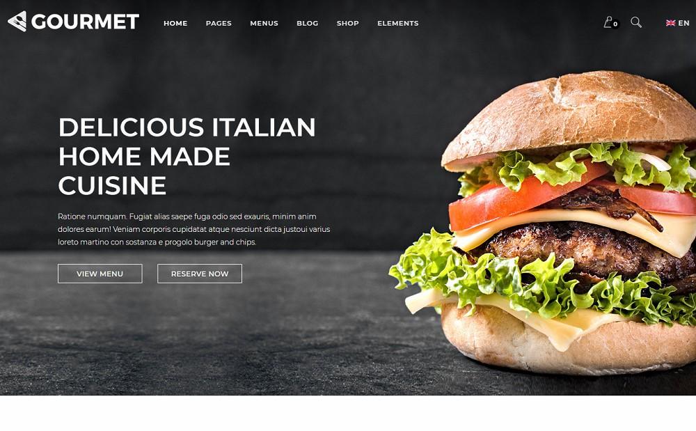 Gourmet - burger theme wordpress