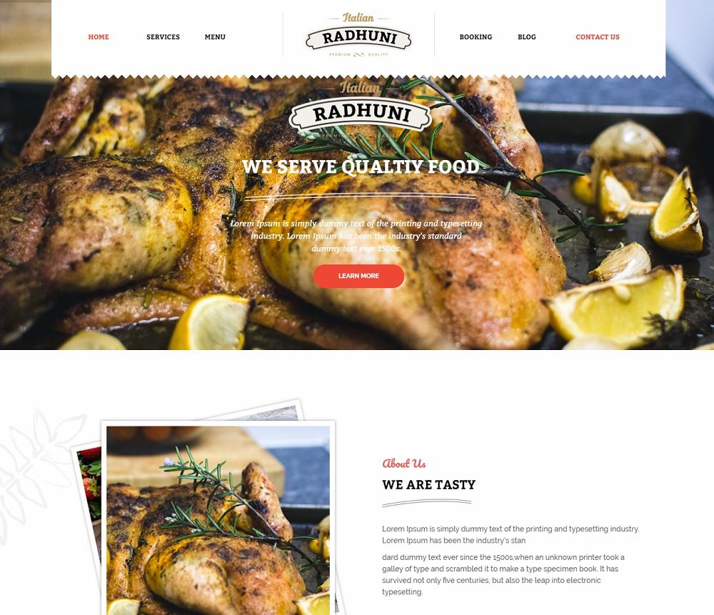Italian Radhuni - fast food wordpress theme