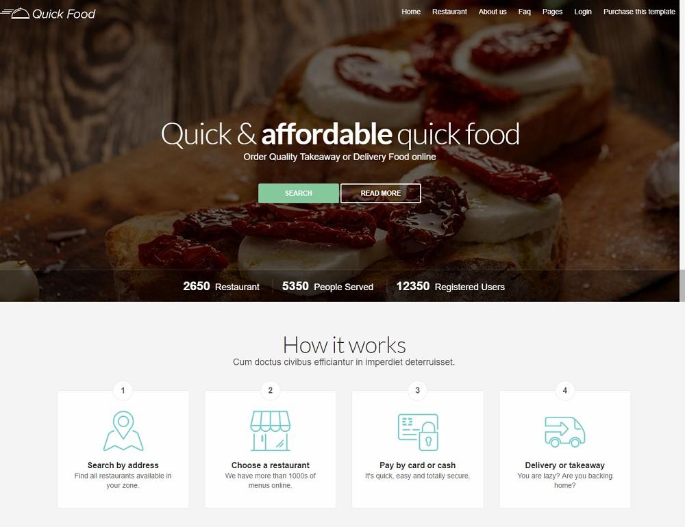 QuickFood - online food delivery wordpress theme