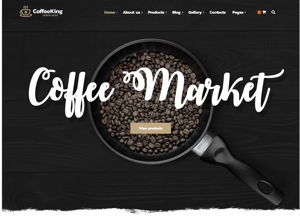 coffee-king - wordpress cafe theme