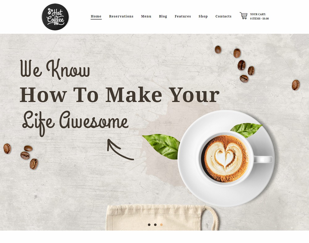Hot Coffee - coffee wordpress theme