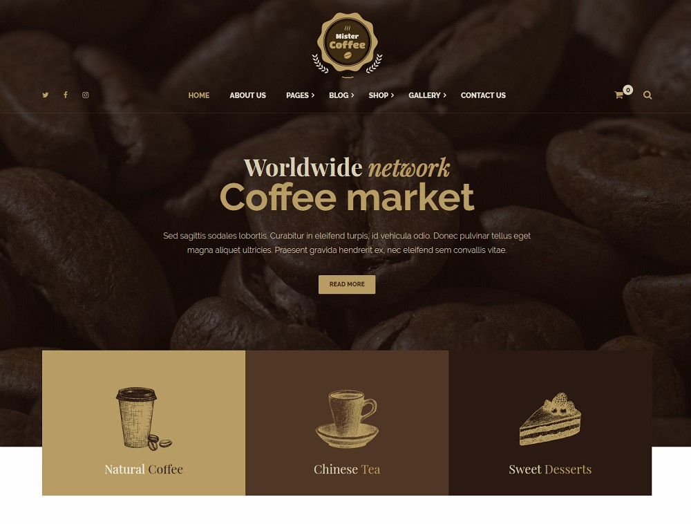 Mister Coffee - cafe themes