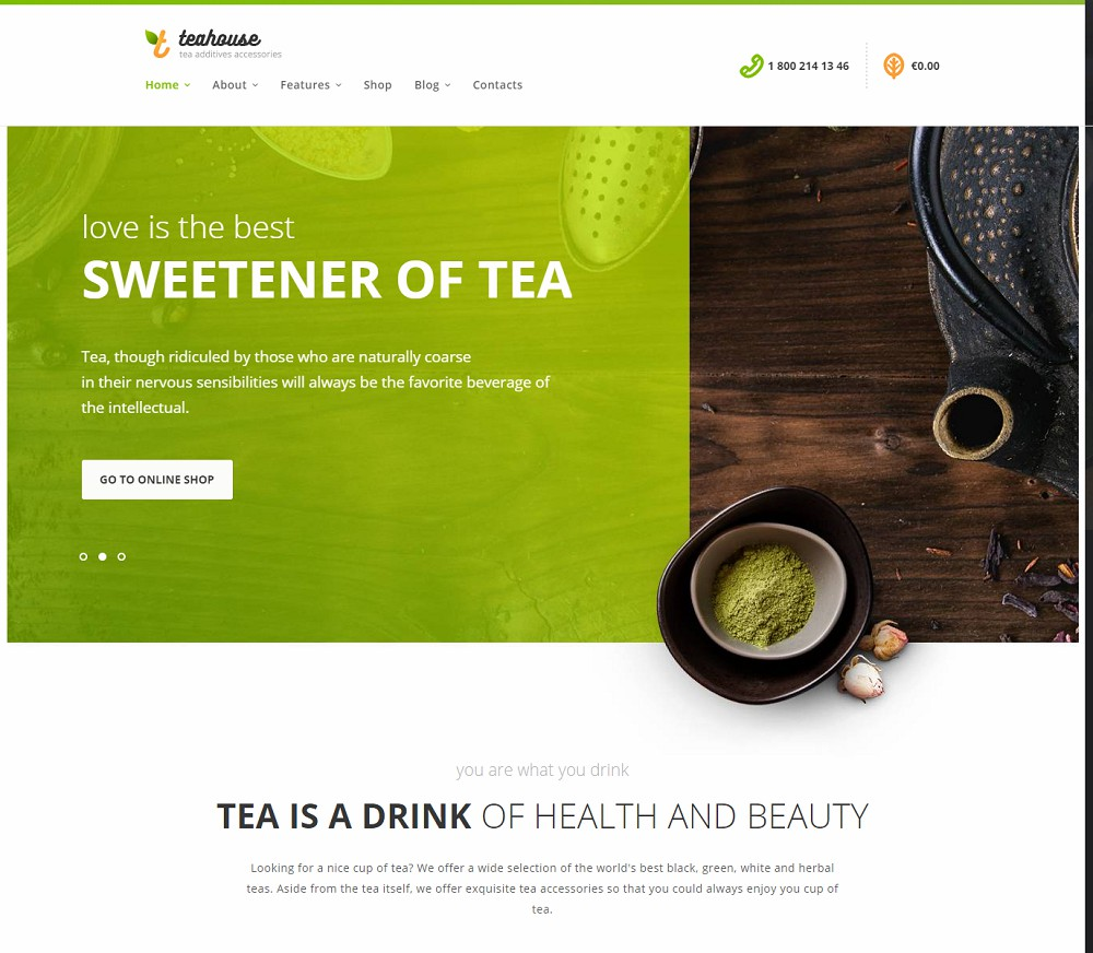 TeaHouse - wordpress cafe theme
