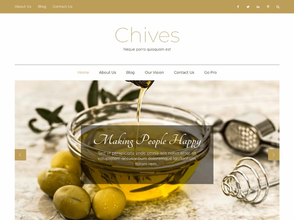 free food blog themes