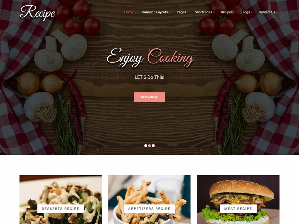 food blog template wordpress