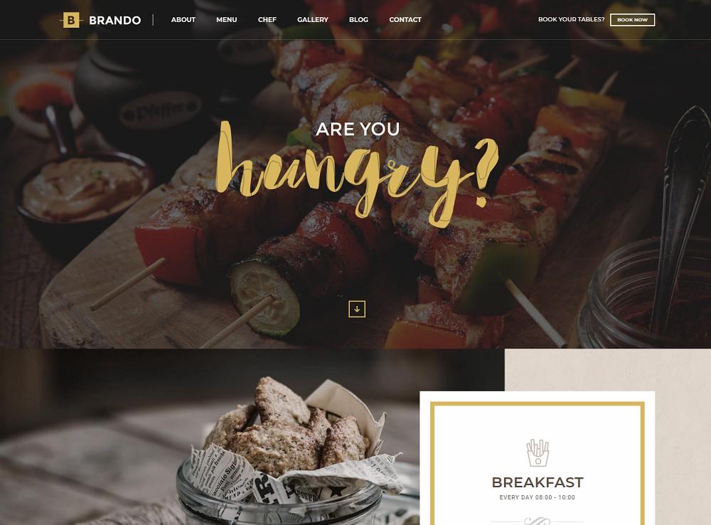 Brando - cafe themes