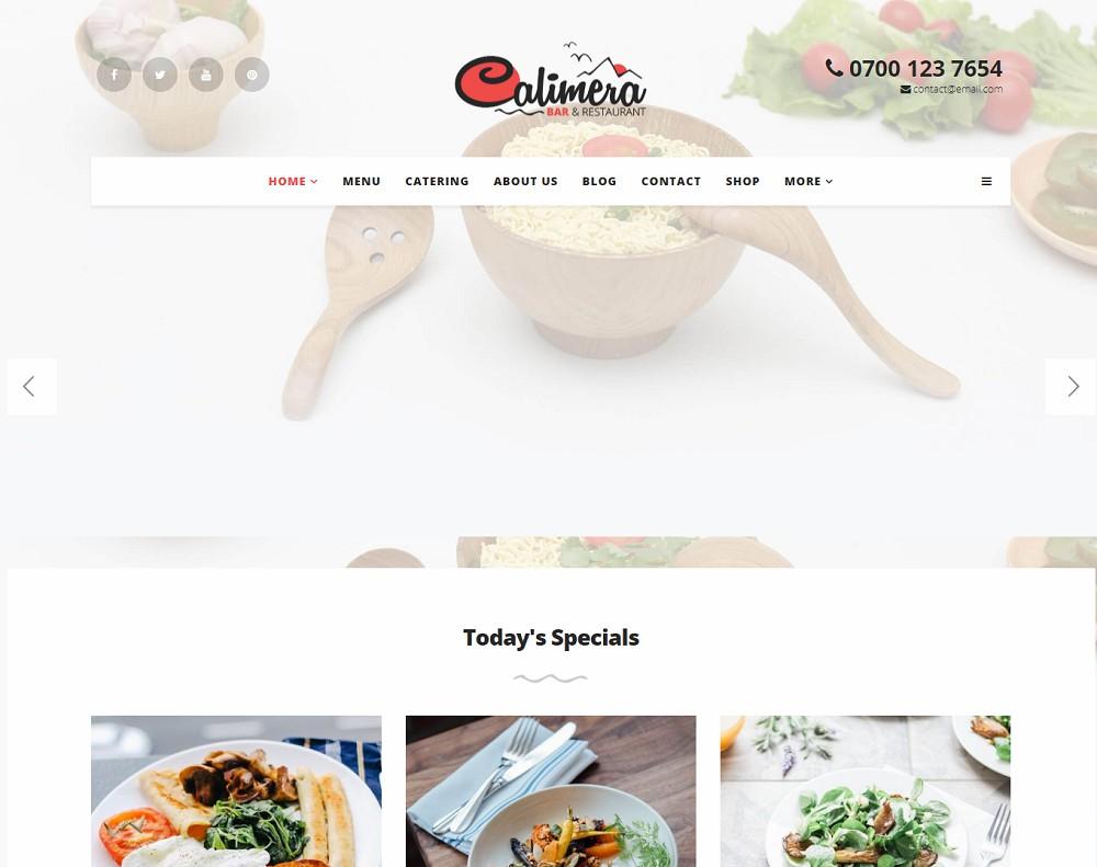 calimera - coffee shop wordpress theme free download