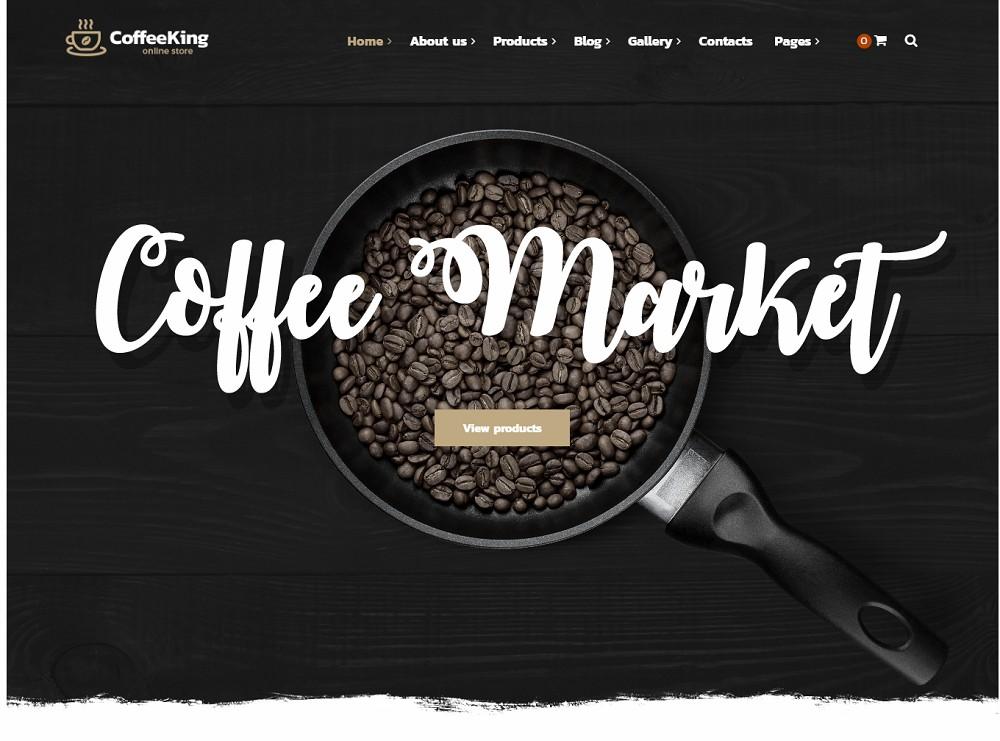 coffee king - coffee wordpress theme