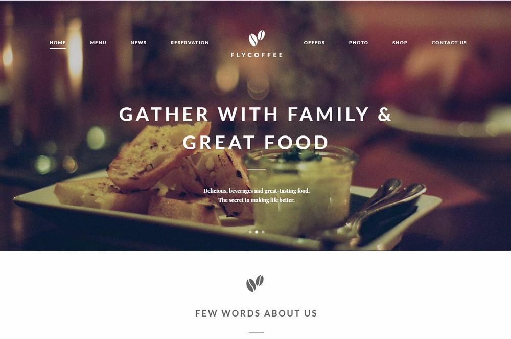 Flycoffee Shop - coffee shop wordpress theme