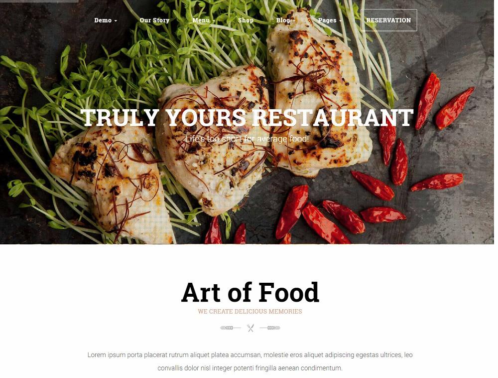 hg restaurant - coffee wordpress theme