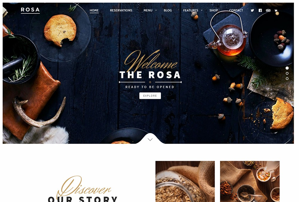 Rosa - best restaurant wordpress theme
