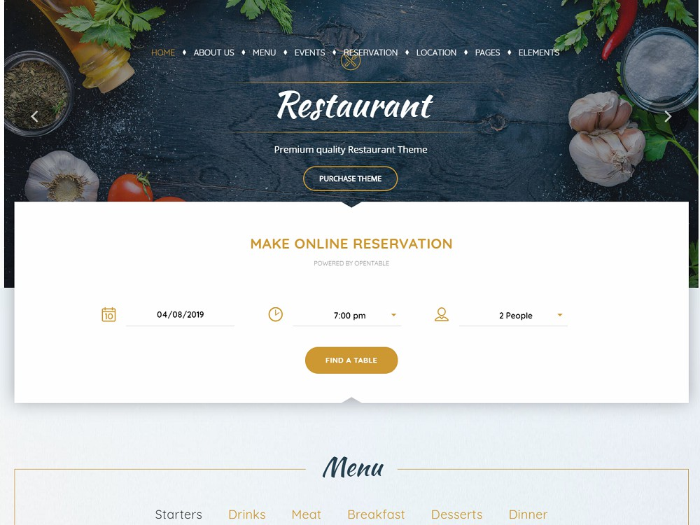 Pearl - restaurant themes examples