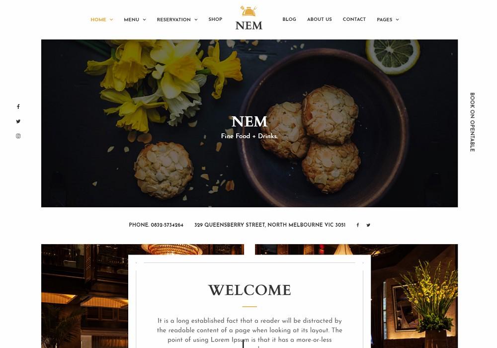 NEM - restaurant themes examples