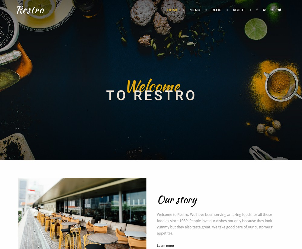 Newspaper - restaurant themes list