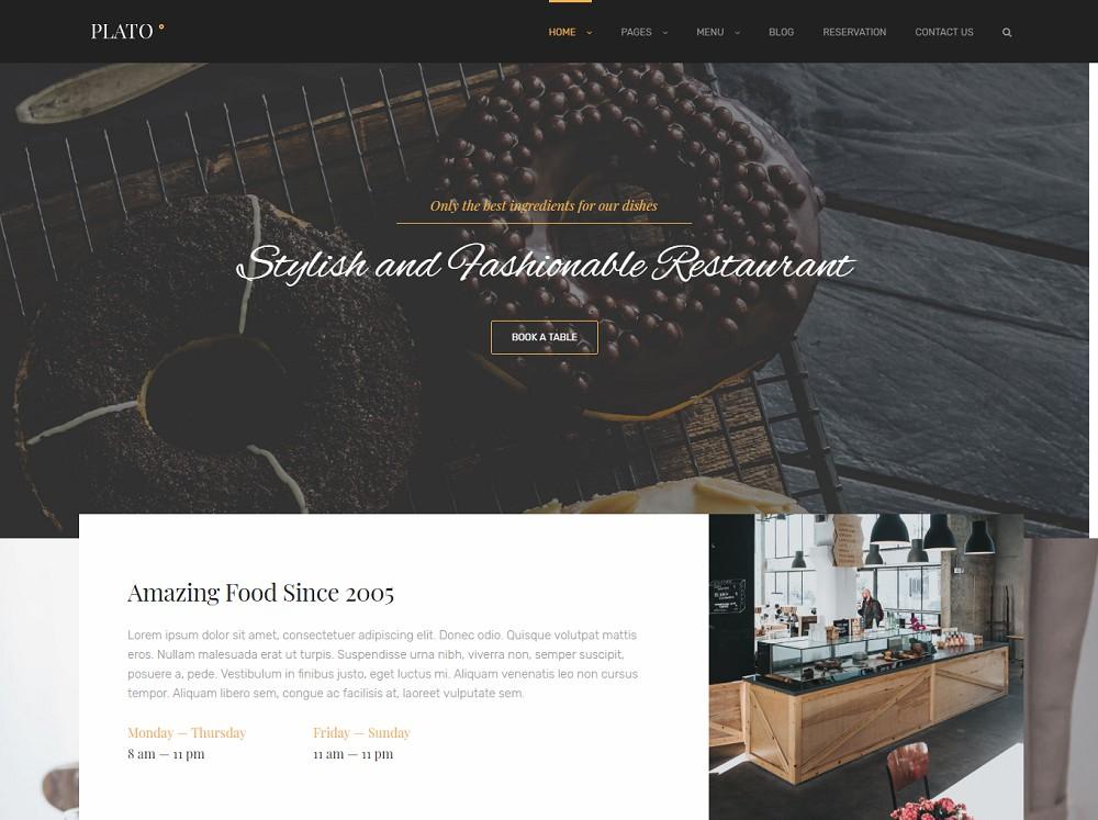 Plao - wordpress restaurant