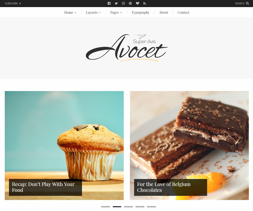 Avocet WordPress Food Blog Theme