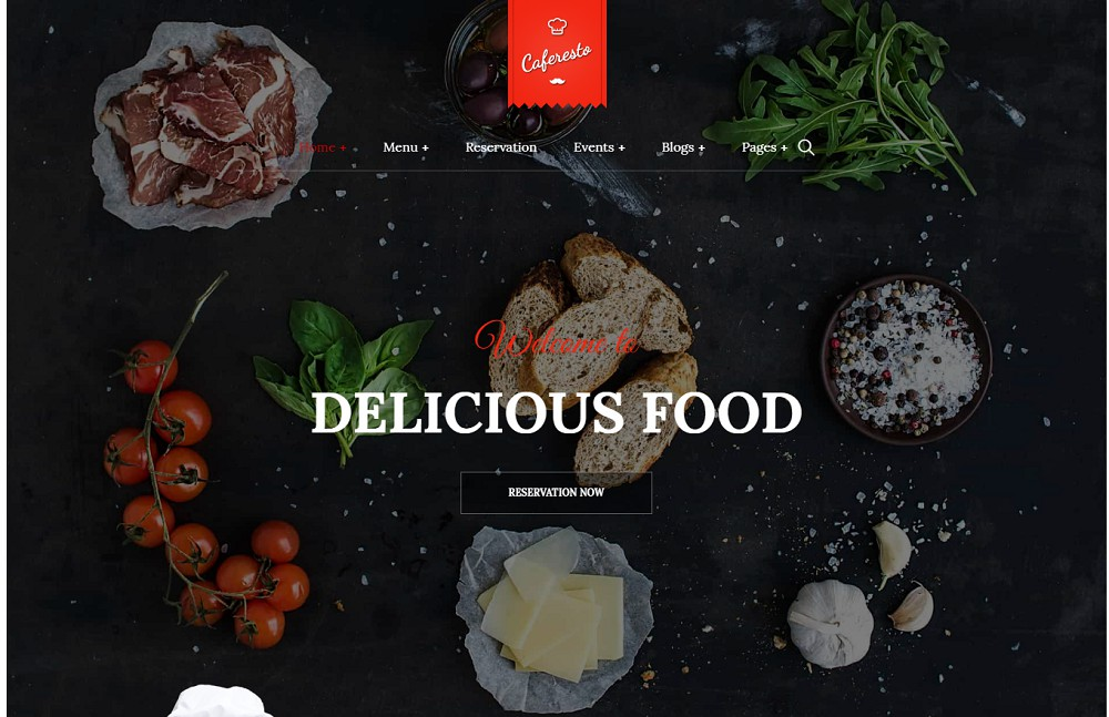 Cafe Resto - catering theme