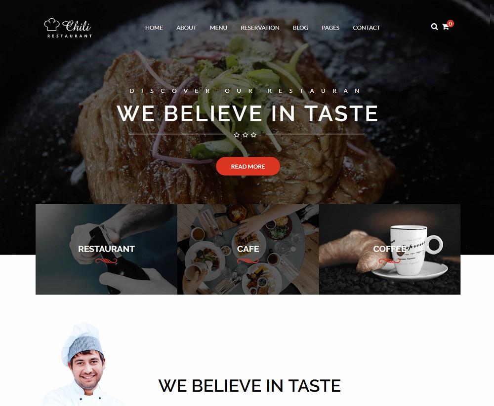 Chili - wordpress catering