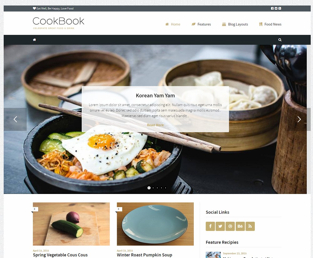 food theme wordpress free