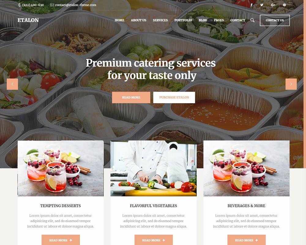 Etalon - catering wordpress theme