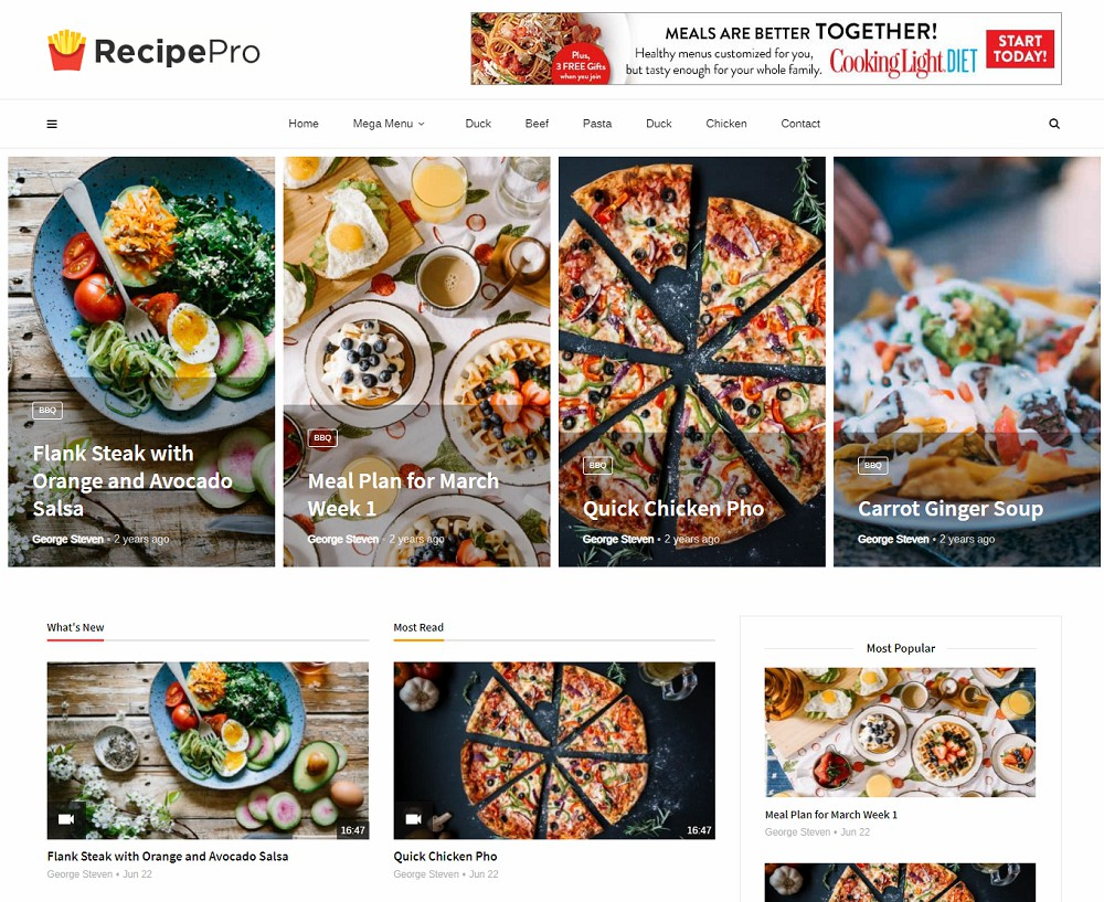best food wordpress themes