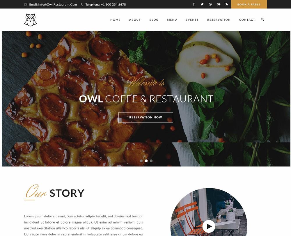 OWL - wordpress catering theme free