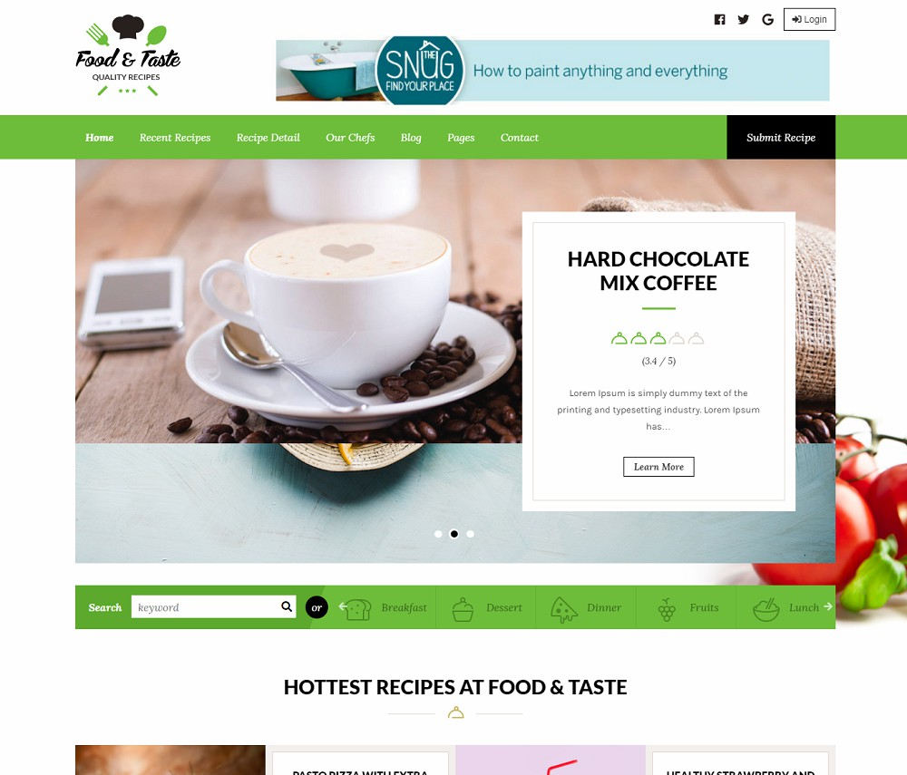 best wordpress themes for food blogs
