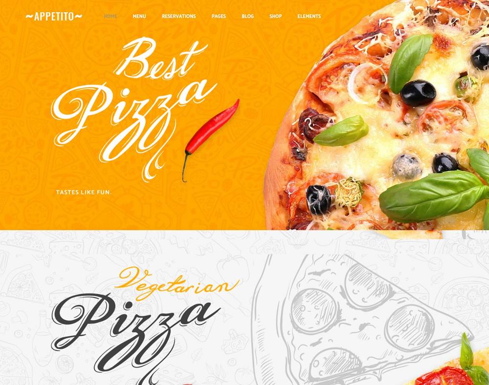 wordpress pizza theme
