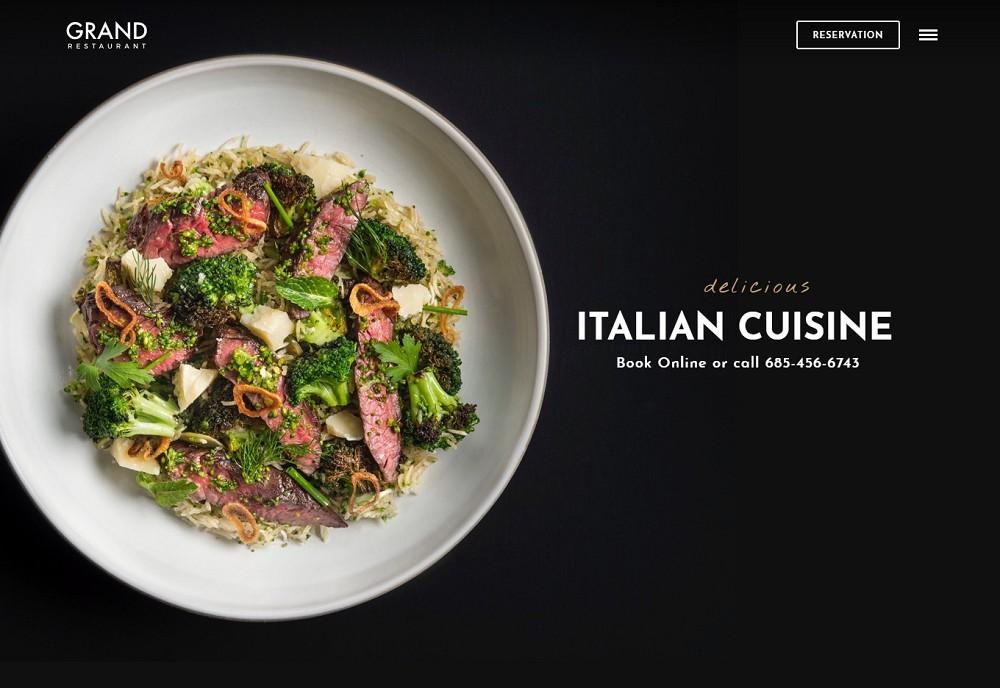 Grand Restaurant - wordpress food delivery
