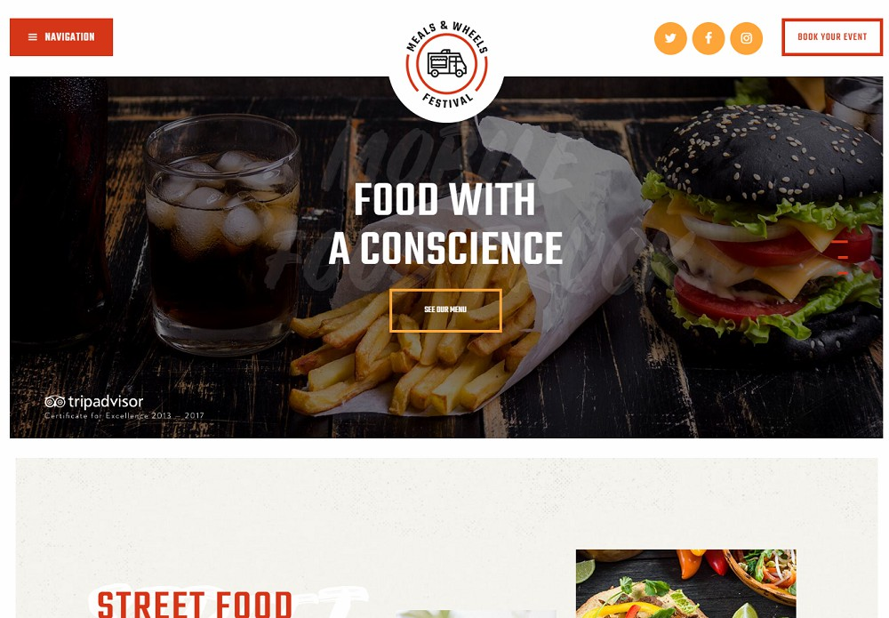 Meals and Wheels - food delivery theme