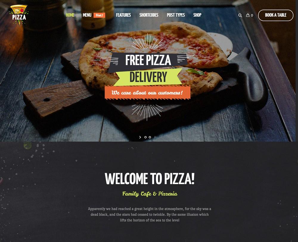 Pizza restaurant - pizza website template wordpress