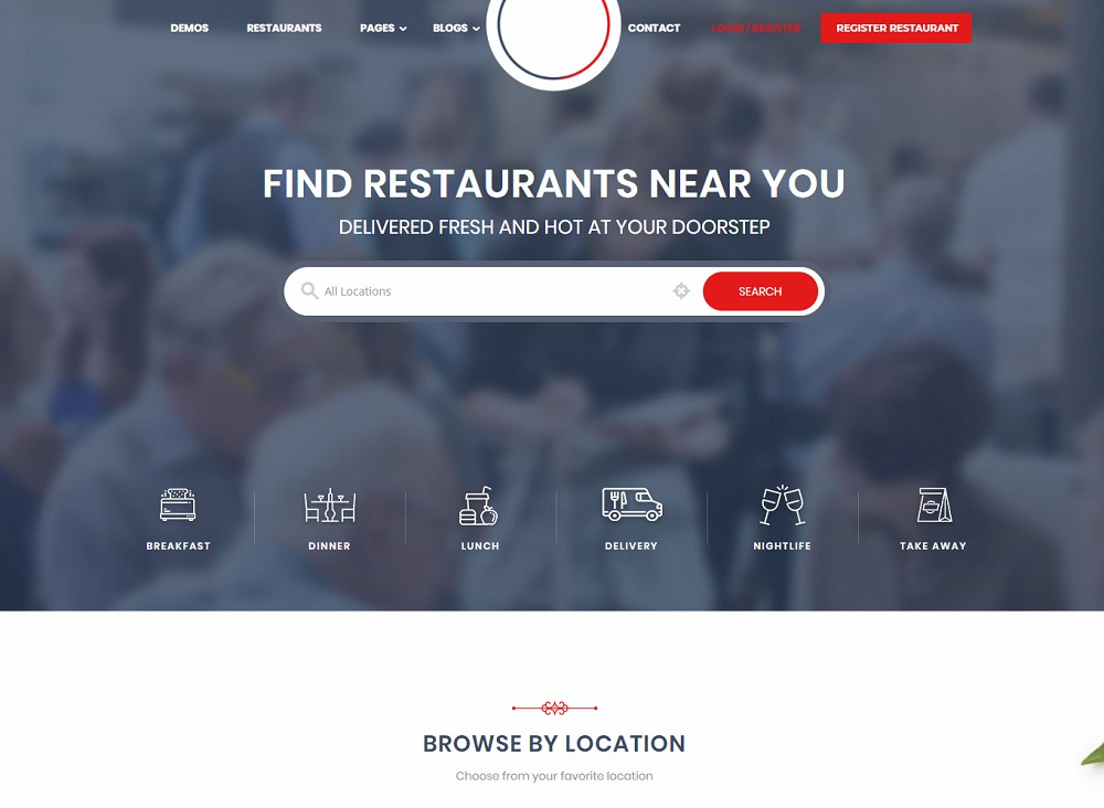professional responsive food delivery wordpress theme