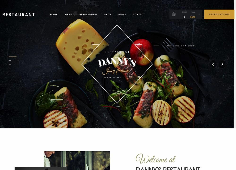 Restaurant Dannys - wordpress pizza