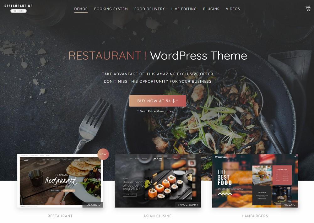 Ristorante Restaurant - food delivery wordpress theme