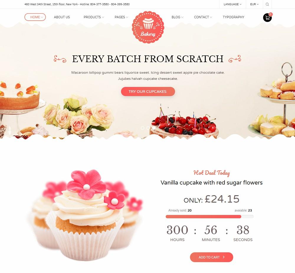 Bakery - Premium bakery wordpress theme