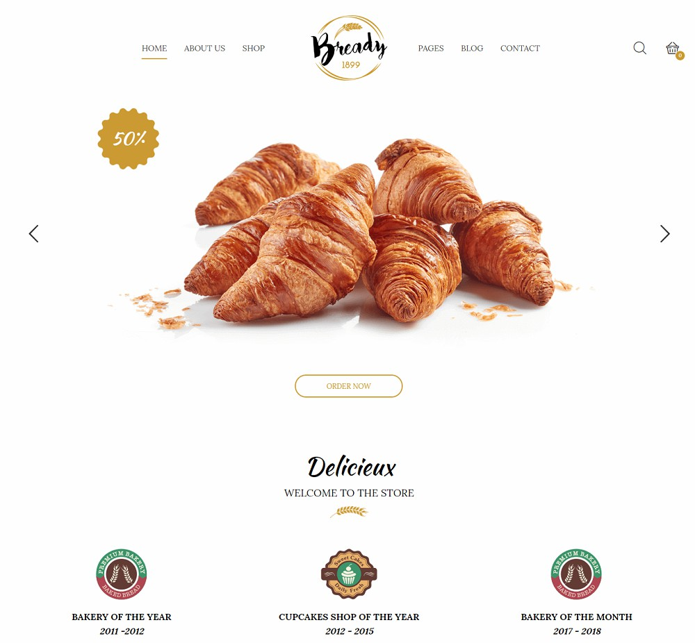 Bready - best bakery wordpress themes
