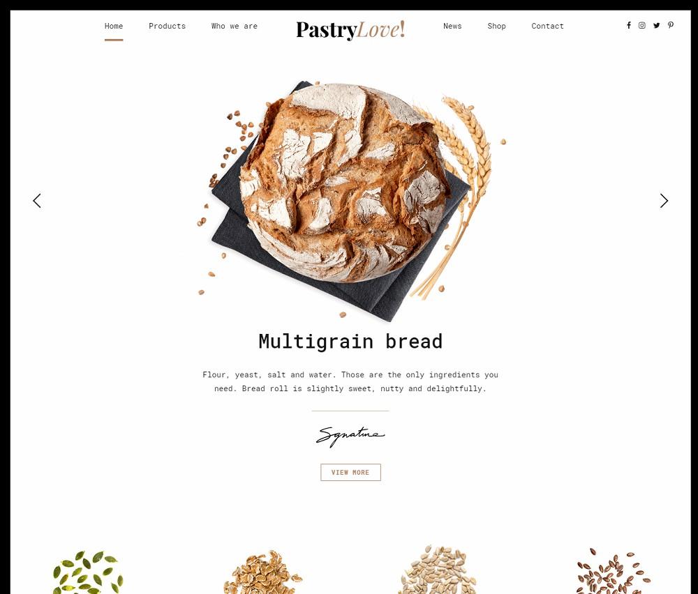 Pastry Love - bakery wordpress theme