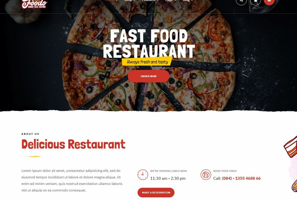 20+ Best Mobile-Friendly WordPress Pizza Theme