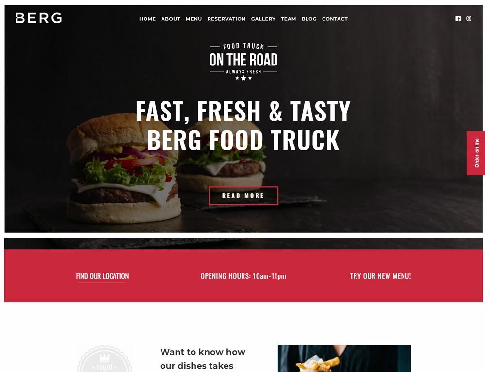 BERG - burger theme