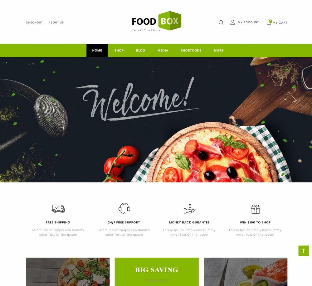 Food Box - wordpress pizza themes
