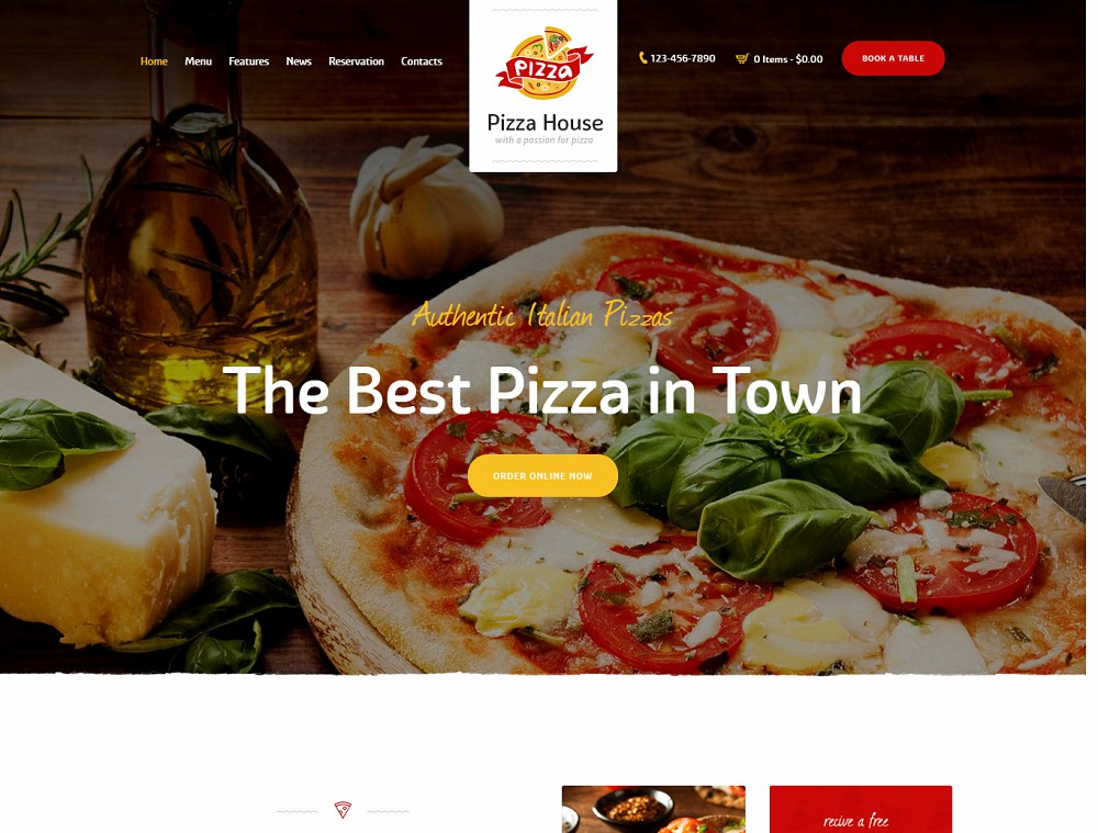 Pizza house - pizza delivery wordpress theme