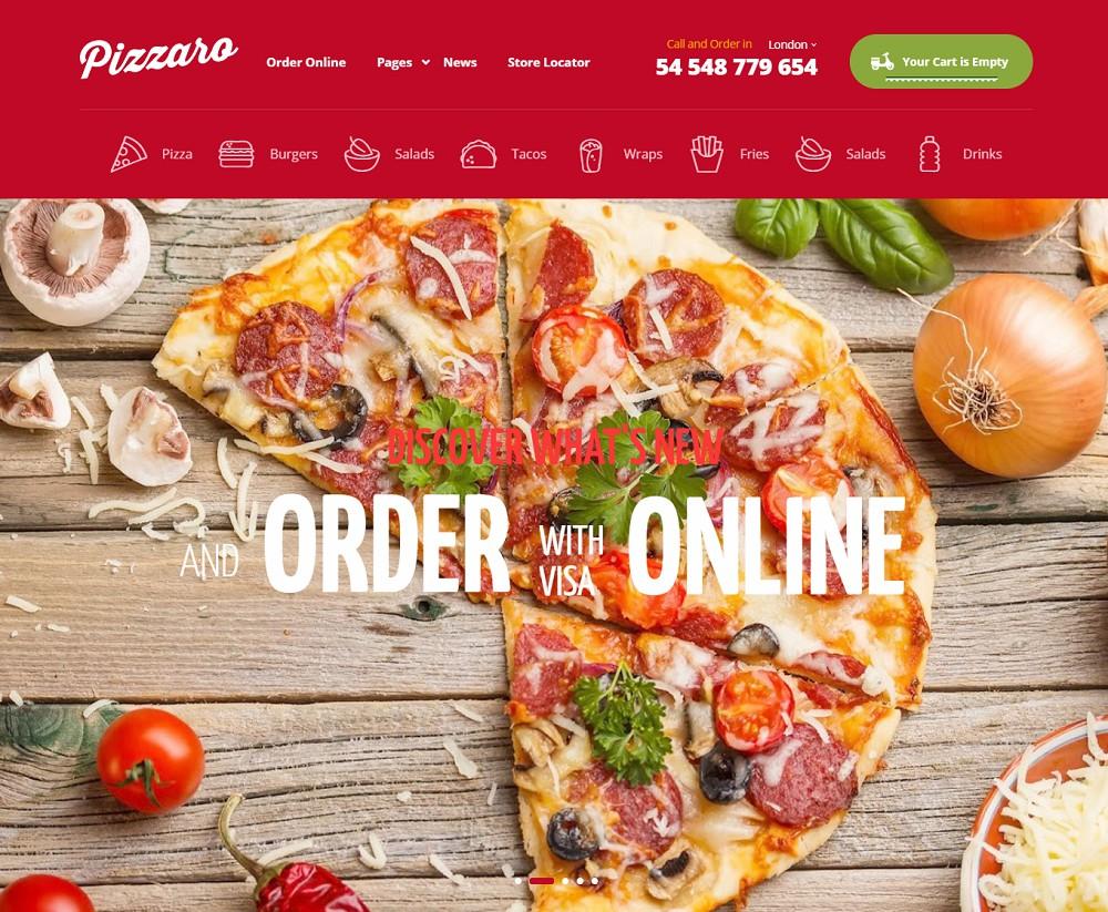 Pizzaro - wordpress pizza theme