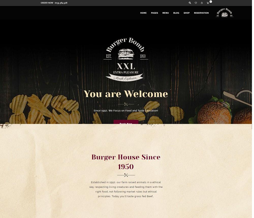 The Butcher - burger wordpress theme