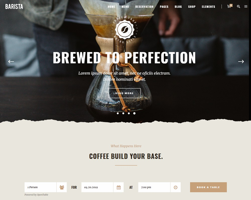 barista - cafe themes