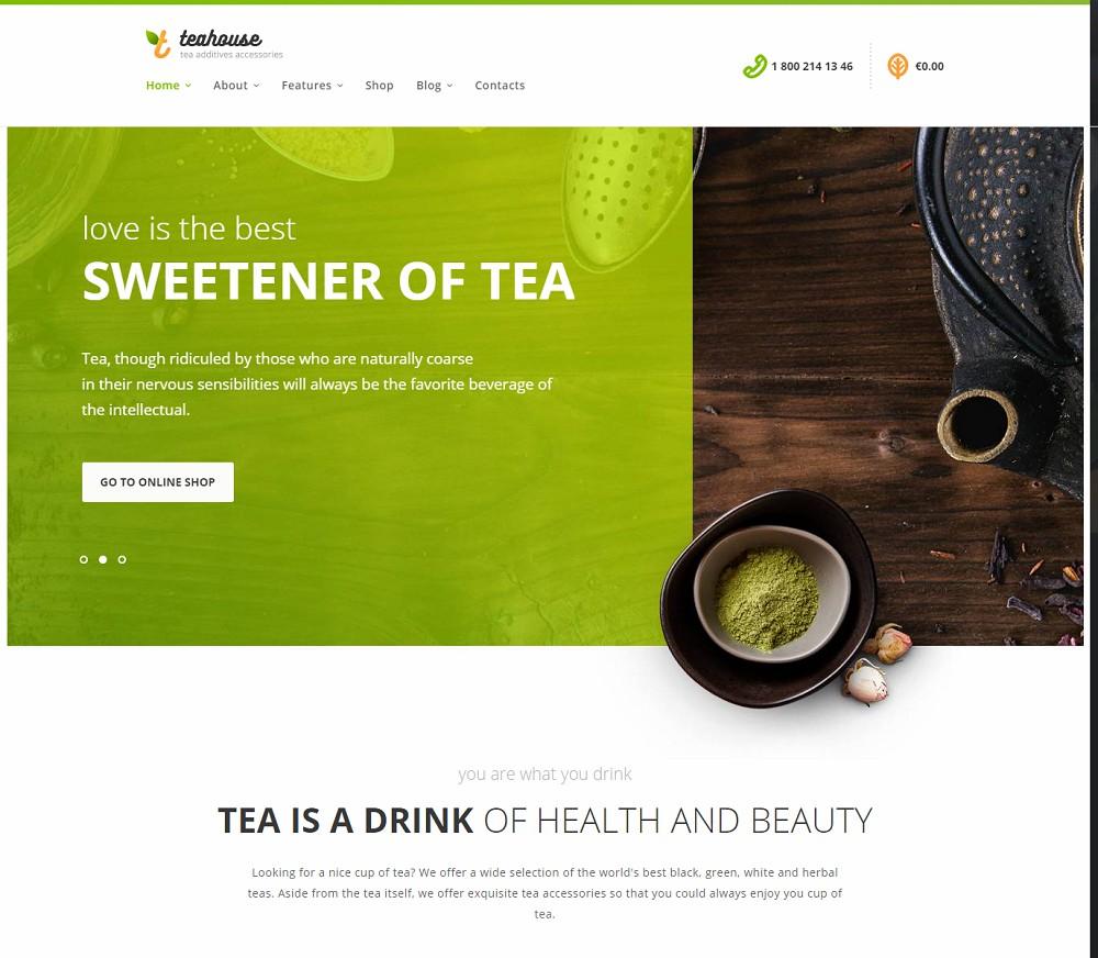 TeaHouse - wordpress cafe theme