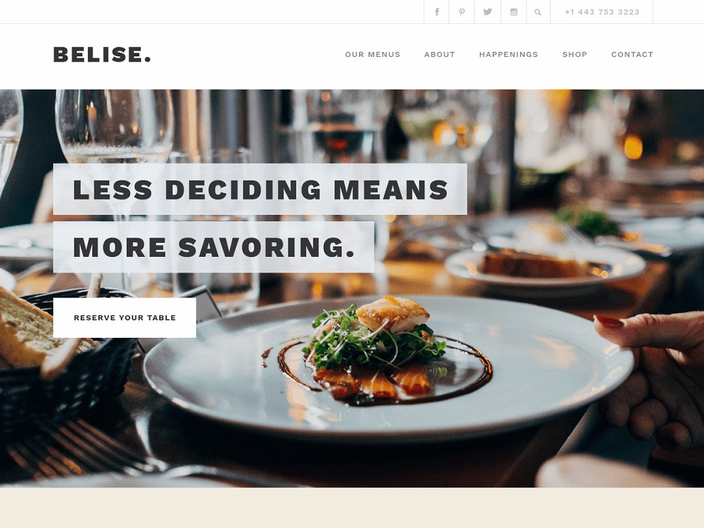 free food blog themes