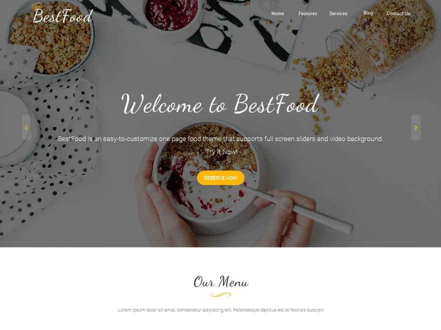 food wordpress theme free download
